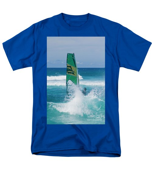 Men's T-Shirt  (Regular Fit) featuring the photograph Hookipa Windsurfing North Shore Maui Hawaii by Sharon Mau