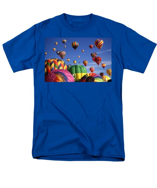 Beautiful Balloons On Blue Sky Men's T-Shirt  (Regular Fit) by Art America Gallery Peter Potter