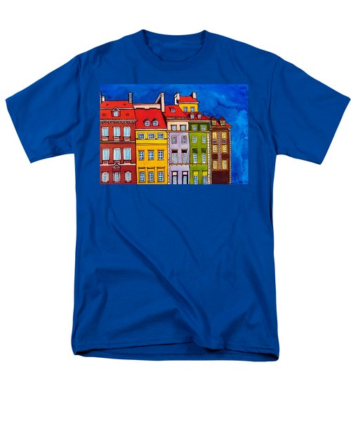 Houses In The Oldtown Of Warsaw Men's T-Shirt  (Regular Fit)
