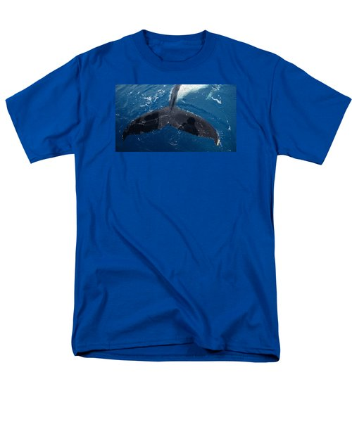 Men's T-Shirt  (Regular Fit) featuring the photograph Humpback Whale Tail With Human Shadows by Gary Crockett