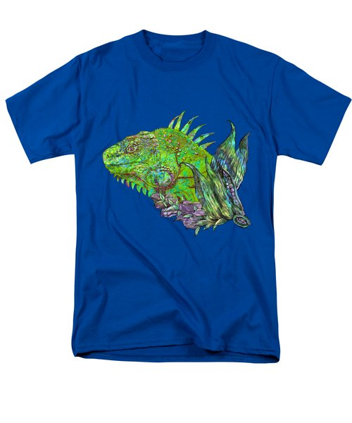 Men's T-Shirt  (Regular Fit) featuring the mixed media Iguana Cool by Carol Cavalaris