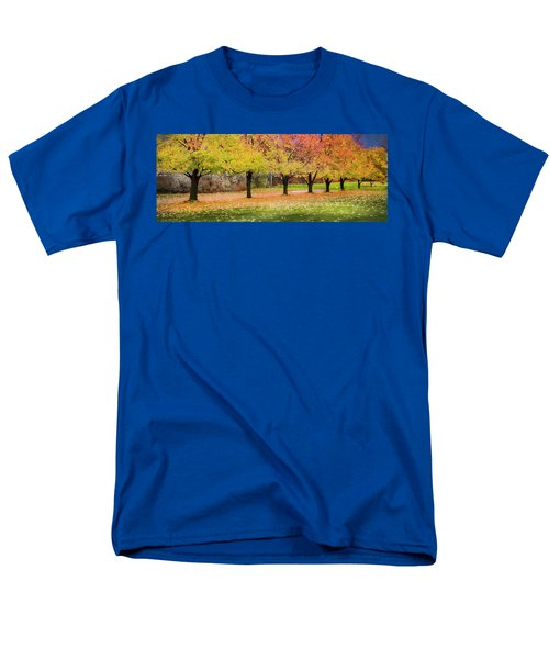 Men's T-Shirt  (Regular Fit) featuring the photograph Impressionist Autumn by Theresa Tahara