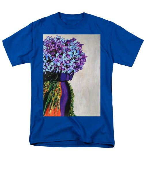 Indigo Flowers For Ma Men's T-Shirt  (Regular Fit) by Esther Newman-Cohen