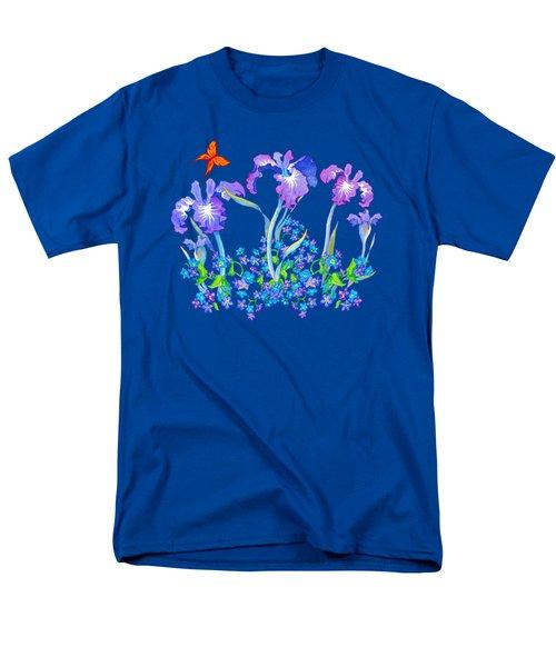 Iris Bouquet With Forget Me Nots Men's T-Shirt  (Regular Fit)