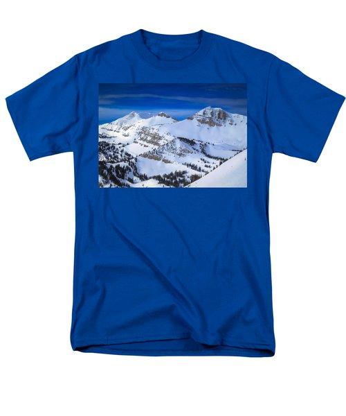 Jackson Hole, Wyoming Winter Men's T-Shirt  (Regular Fit) by Serge Skiba