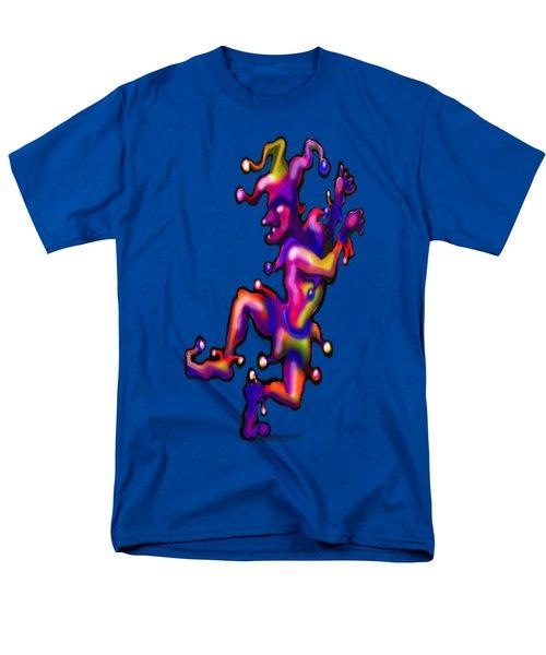 Jester On Blue Men's T-Shirt  (Regular Fit) by Kevin Middleton
