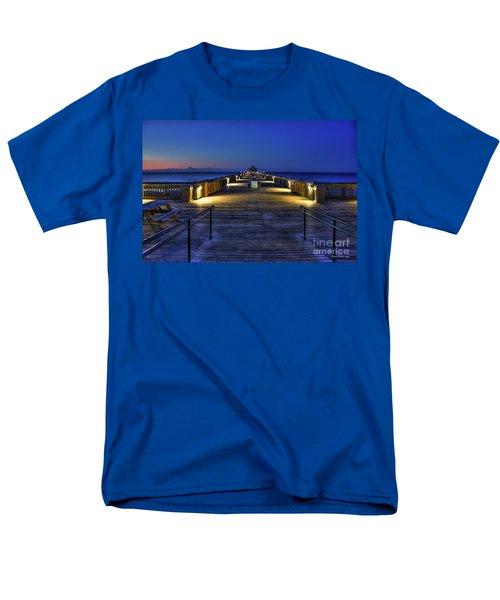 Men's T-Shirt  (Regular Fit) featuring the photograph Just Before Dawn Folly Beach Pier Charleston Sc Sunrise Art by Reid Callaway