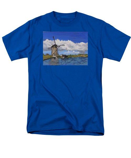 Kinderdijk Men's T-Shirt  (Regular Fit) by Diane Arlitt