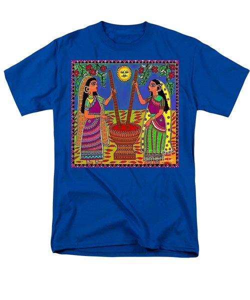 Ladies Crushing Chili Peppers Men's T-Shirt  (Regular Fit) by Latha Gokuldas Panicker