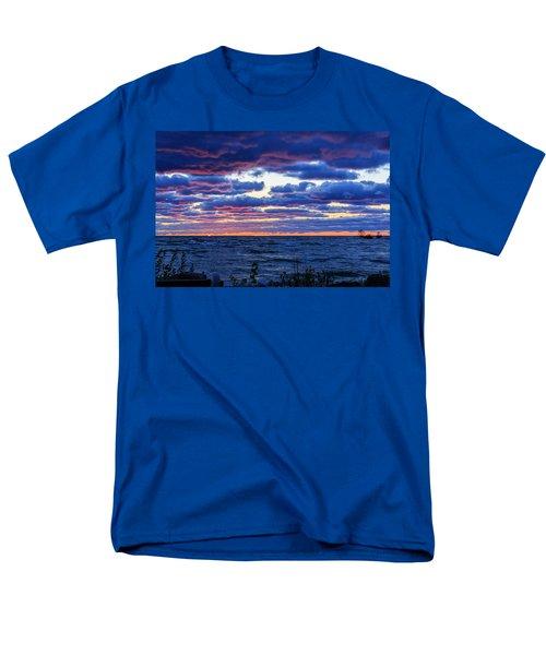 Lake Michigan Windy Sunrise Men's T-Shirt  (Regular Fit) by Joni Eskridge