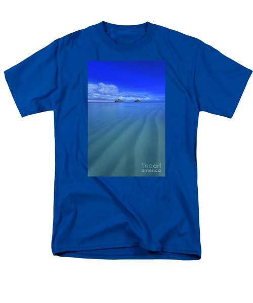 Lanikai Beach Ripples In The Sand Men's T-Shirt  (Regular Fit) by Aloha Art