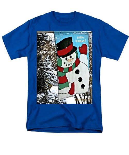 Let It Snow - Happy Holidays Men's T-Shirt  (Regular Fit) by Carol F Austin