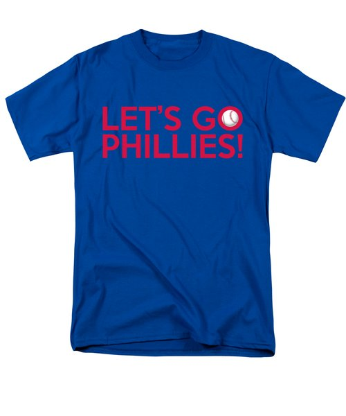Let's Go Phillies Men's T-Shirt  (Regular Fit) by Florian Rodarte