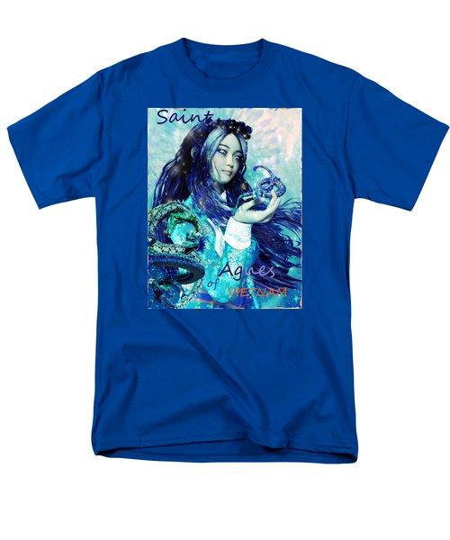 Men's T-Shirt  (Regular Fit) featuring the painting Light Of Vietnam Saint Agnes by Suzanne Silvir