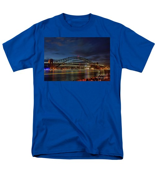 Light Trails On The Harbor By Kaye Menner Men's T-Shirt  (Regular Fit)