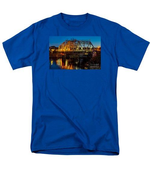 Little River Swing Bridge Men's T-Shirt  (Regular Fit) by David Smith