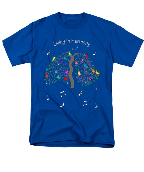 Living In Harmony Men's T-Shirt  (Regular Fit) by Methune Hively