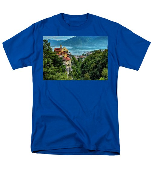 Men's T-Shirt  (Regular Fit) featuring the photograph Locarno Overview by Alan Toepfer
