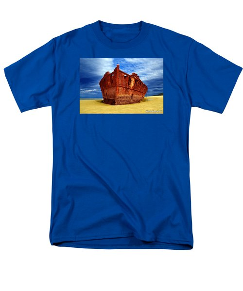 Maheno Shipwreck Fraser Island Queensland Australia Men's T-Shirt  (Regular Fit) by Gary Crockett