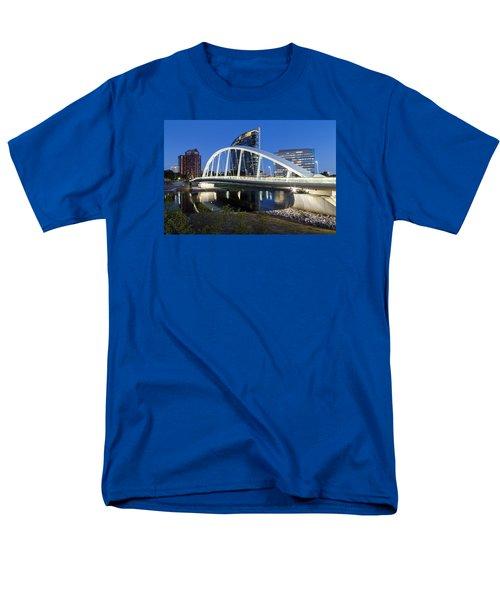 Men's T-Shirt  (Regular Fit) featuring the photograph Main Street Bridge Columbus by Alan Raasch