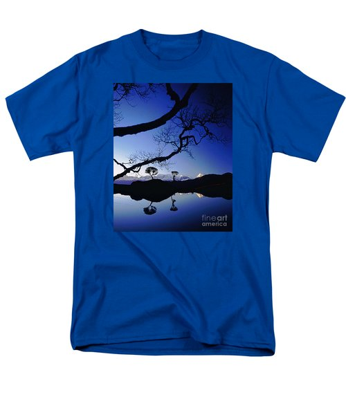Men's T-Shirt  (Regular Fit) featuring the photograph Makalu Nepal At Sunset by Rudi Prott