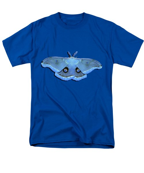 Male Moth Light Blue .png Men's T-Shirt  (Regular Fit) by Al Powell Photography USA