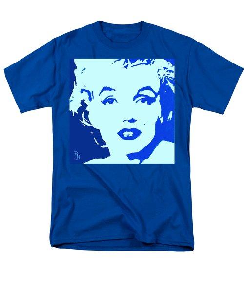 Marilyn Monroe Blue Pop Art Portrait Men's T-Shirt  (Regular Fit) by Bob Baker
