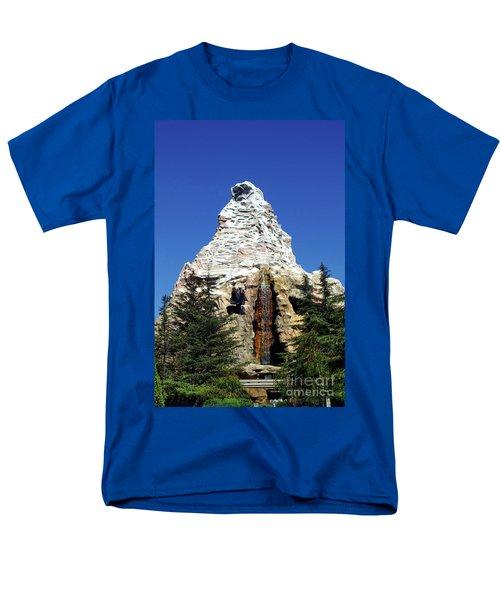Matterhorn Disneyland Men's T-Shirt  (Regular Fit) by Mariola Bitner