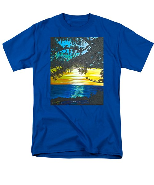 Maui Sunset Men's T-Shirt  (Regular Fit) by Donna Blossom