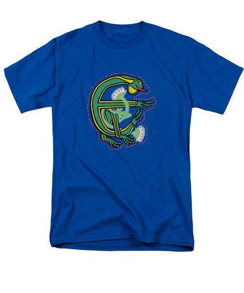 Medieval Frog Letter E Men's T-Shirt  (Regular Fit)