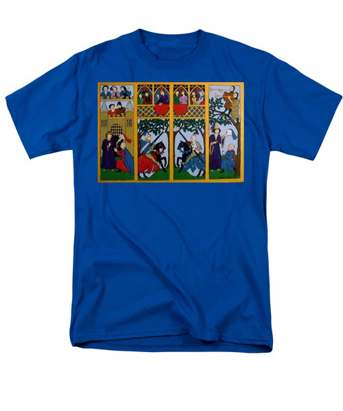 Men's T-Shirt  (Regular Fit) featuring the painting Medieval Scene by Stephanie Moore