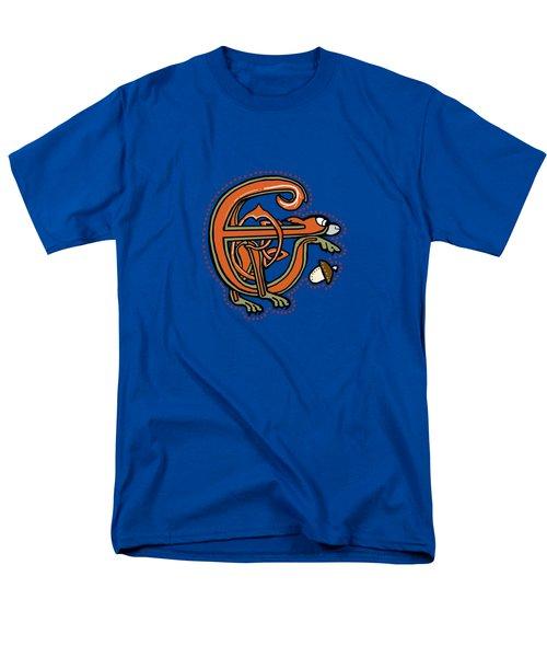 Medieval Squirrel Letter E Men's T-Shirt  (Regular Fit)