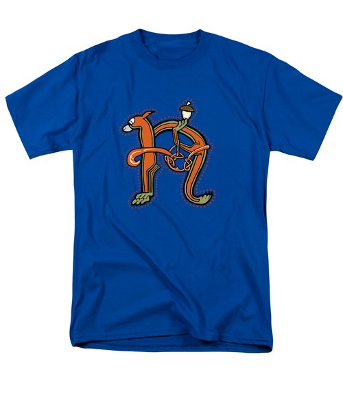 Medieval Squirrel Letter N Men's T-Shirt  (Regular Fit)