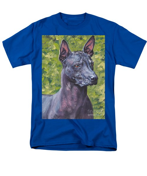 Men's T-Shirt  (Regular Fit) featuring the painting Mexican Hairless Dog Standard Xolo by Lee Ann Shepard