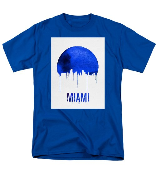 Miami Skyline Blue Men's T-Shirt  (Regular Fit) by Naxart Studio