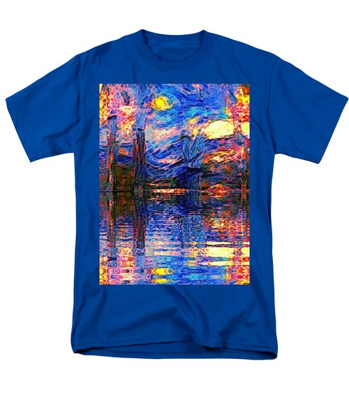 Men's T-Shirt  (Regular Fit) featuring the painting Midnight Oasis by Holly Martinson