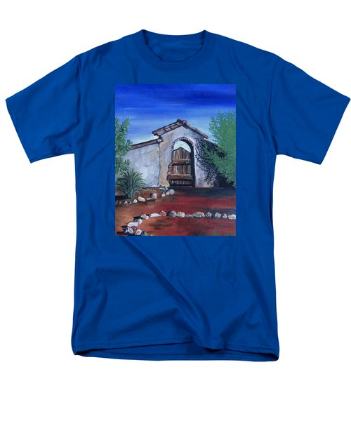 Men's T-Shirt  (Regular Fit) featuring the painting Rustic Charm by Mary Ellen Frazee