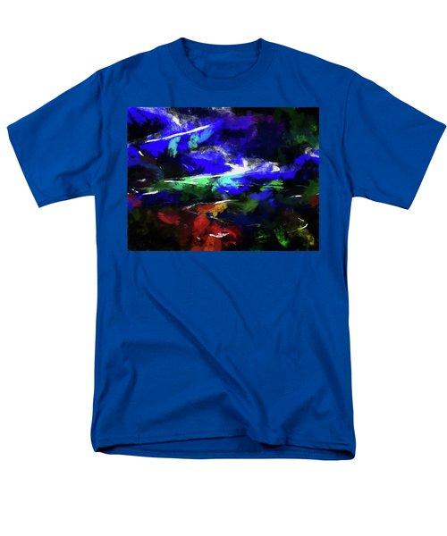 Moment In Blue Lazy River Men's T-Shirt  (Regular Fit) by Cedric Hampton