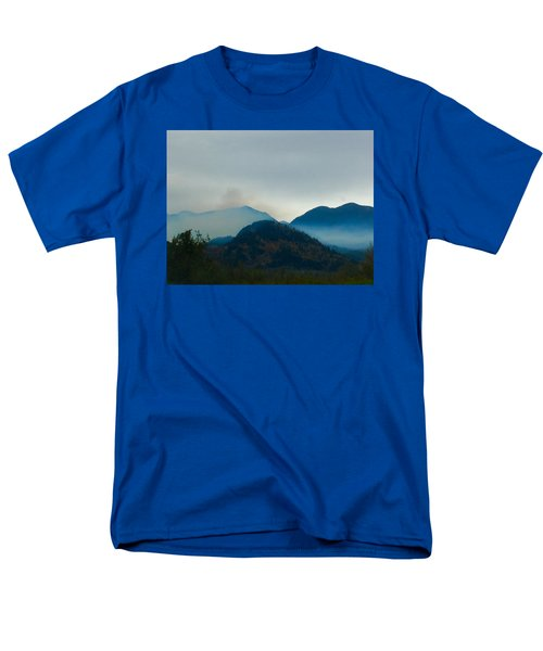 Montana Mountains Men's T-Shirt  (Regular Fit) by Suzanne Lorenz