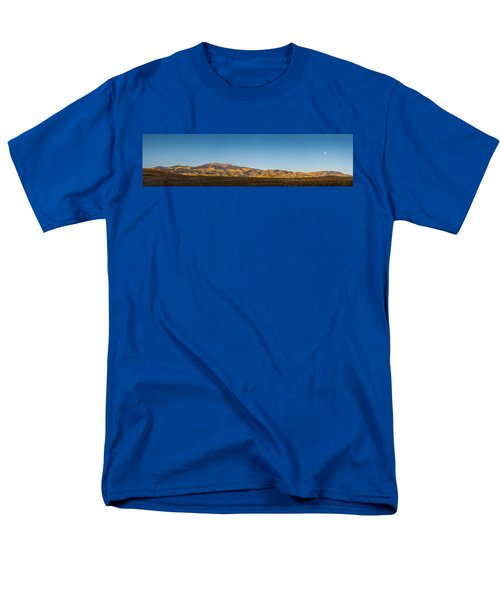 Moon Over Pintada Mountain At Sunrise In The San Juan Mountains, Men's T-Shirt  (Regular Fit) by John Brink