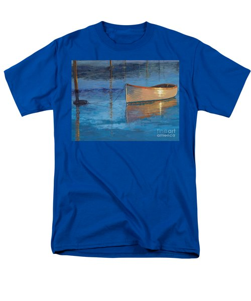 Men's T-Shirt  (Regular Fit) featuring the painting Moored In Light-sold by Nancy Parsons