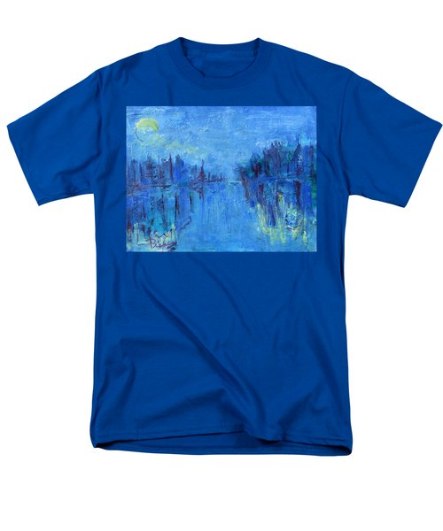 Men's T-Shirt  (Regular Fit) featuring the painting Morning On The Point by Betty Pieper
