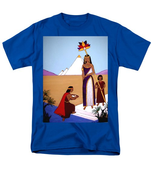 Men's T-Shirt  (Regular Fit) featuring the painting Moses In The Bullrushes by Stephanie Moore