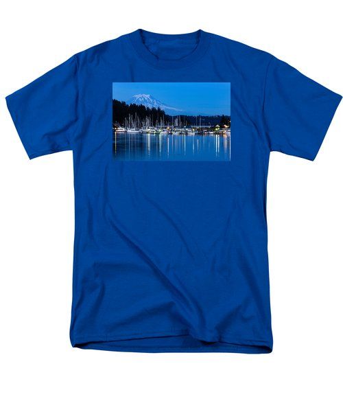 Men's T-Shirt  (Regular Fit) featuring the photograph Mt. Rainier From Gig Harbor by Randy Bayne
