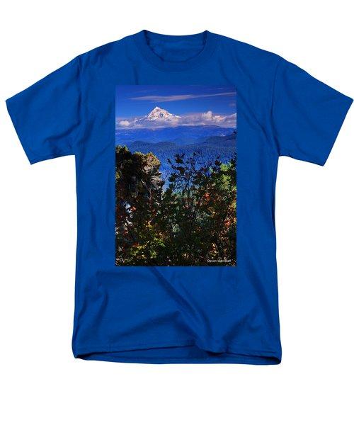 Mt.hood N Fall Men's T-Shirt  (Regular Fit) by Steve Warnstaff