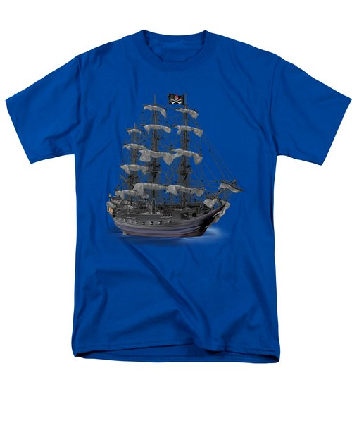 Mystical Moonlit Pirate Ship Men's T-Shirt  (Regular Fit) by Glenn Holbrook