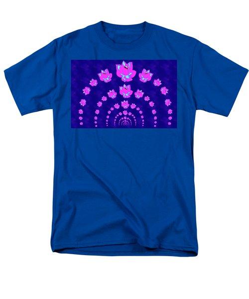 Neon Pink Lotus Arch Men's T-Shirt  (Regular Fit) by Samantha Thome
