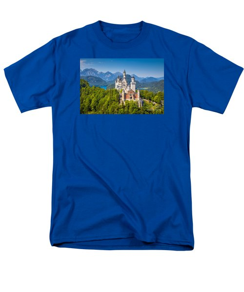 Neuschwanstein Fairytale Castle Men's T-Shirt  (Regular Fit) by JR Photography