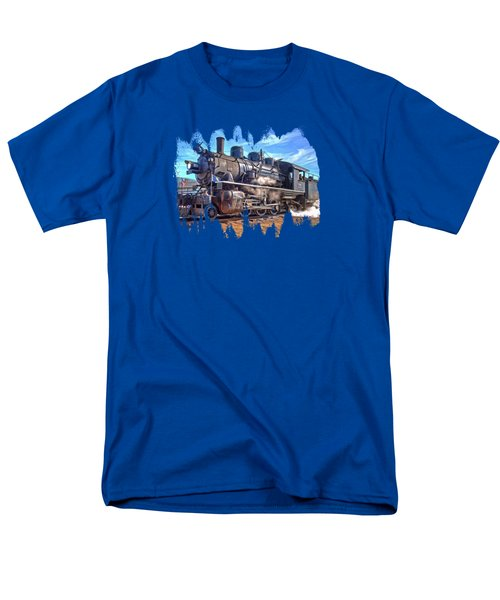 No. 25 Steam Locomotive Men's T-Shirt  (Regular Fit) by Thom Zehrfeld
