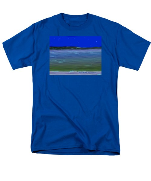 No Moon Night Sea Men's T-Shirt  (Regular Fit) by Dr Loifer Vladimir